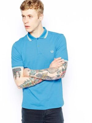 Fred Perry Polo with Twin Tip in Slim Fit